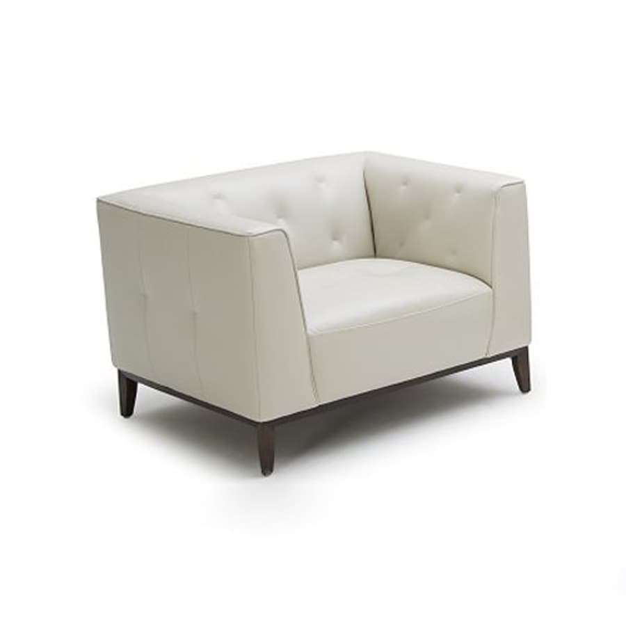 J&M Furniture Amelia Modern White Leather Club Chair