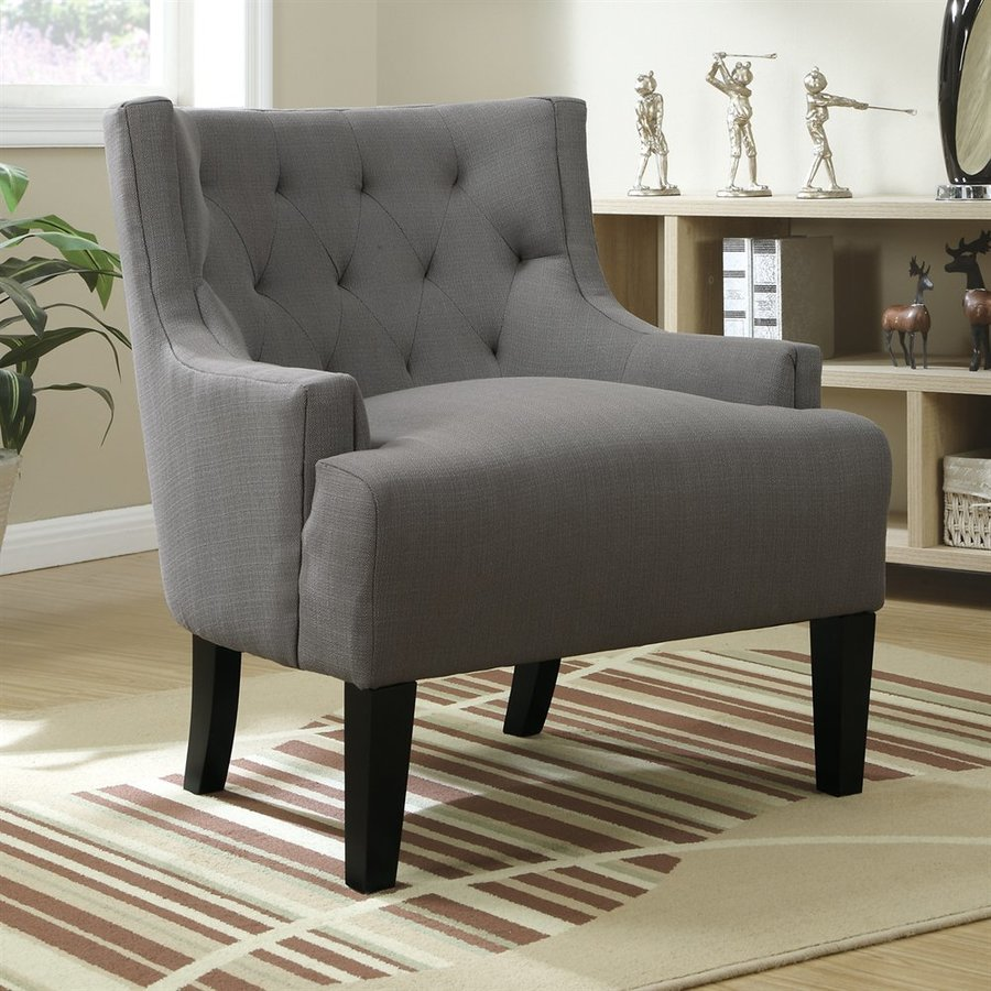 Poundex Ansley Casual Gray Accent Chair
