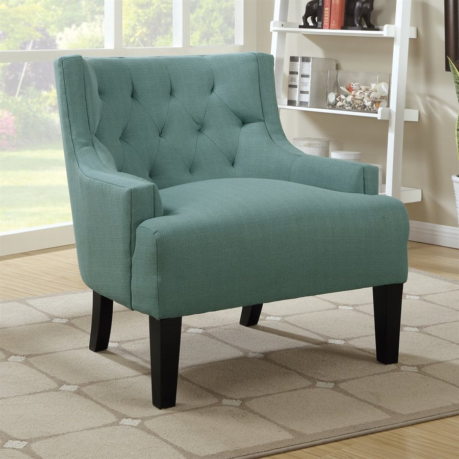 Poundex Ansley Casual Light Blue Accent Chair