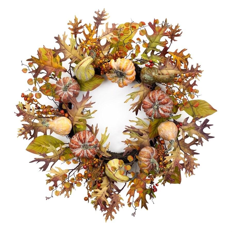 Melrose International 26-in Artificial Pumpkin Halloween Wreath