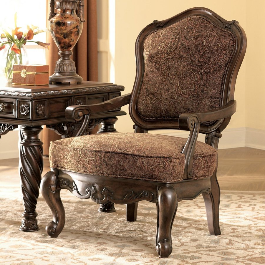 Signature Design by Ashley North Shore Vintage Dark Brown Accent Chair