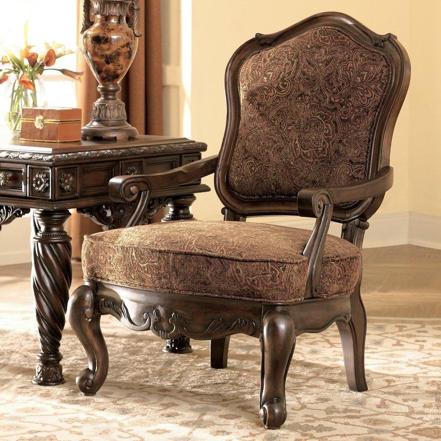 Dark Brown Accent Chairs.Signature Design By Ashley North Shore Vintage Dark Brown Accent
