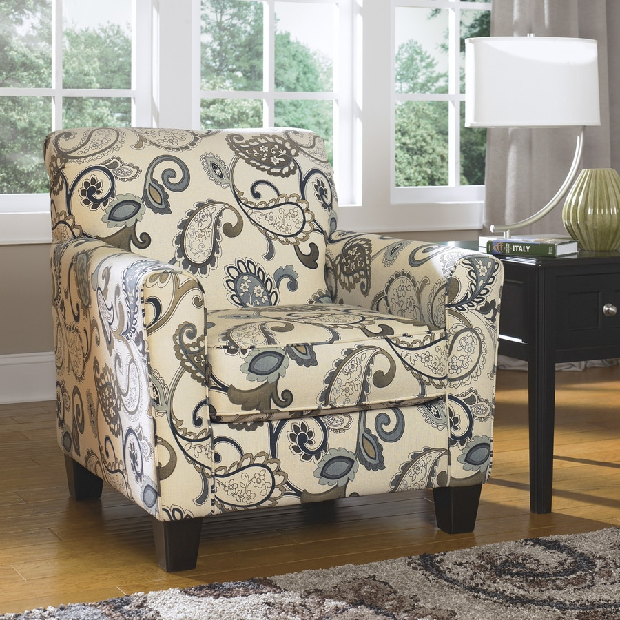 Signature Design by Ashley Yvette Casual Steel Pattern Club Chair