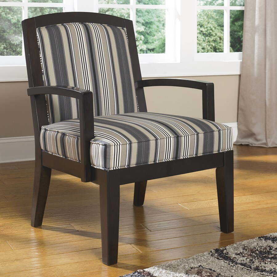 Signature Design by Ashley Yvette Casual Steel Stripe  Accent Chair