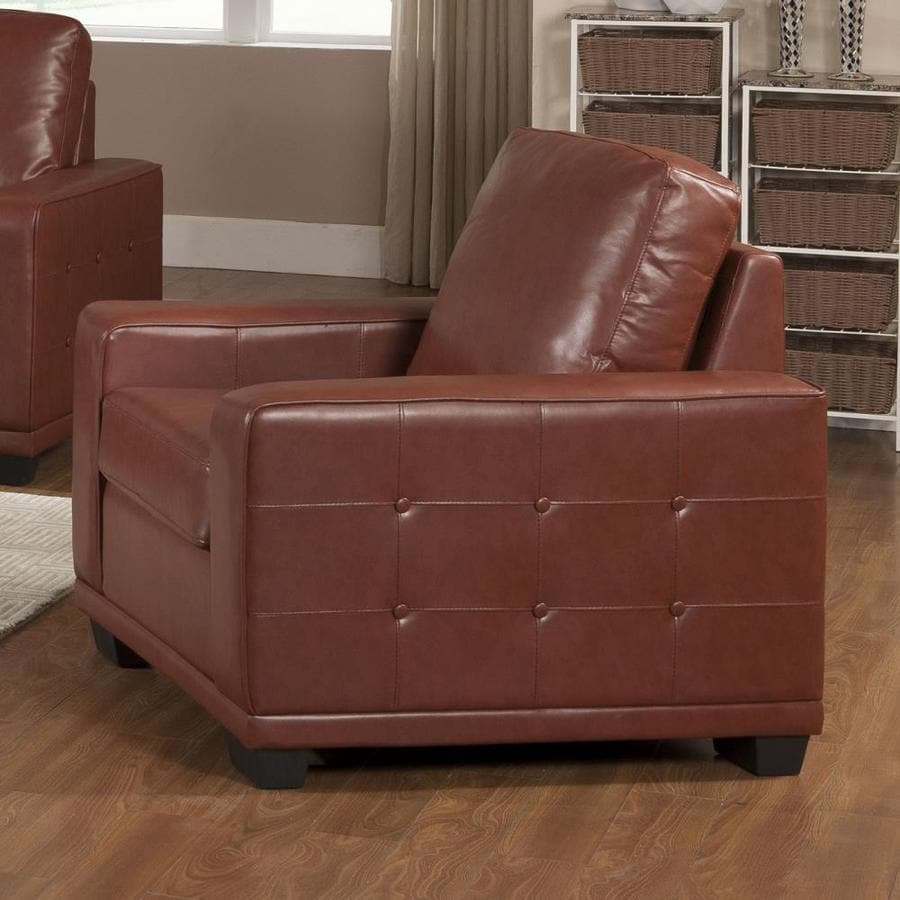 KB Furniture Casual Tobacco Faux Leather Club Chair