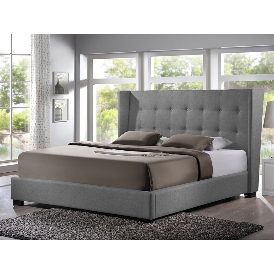 Baxton Studio Favela Grey Queen Low-Profile Bed