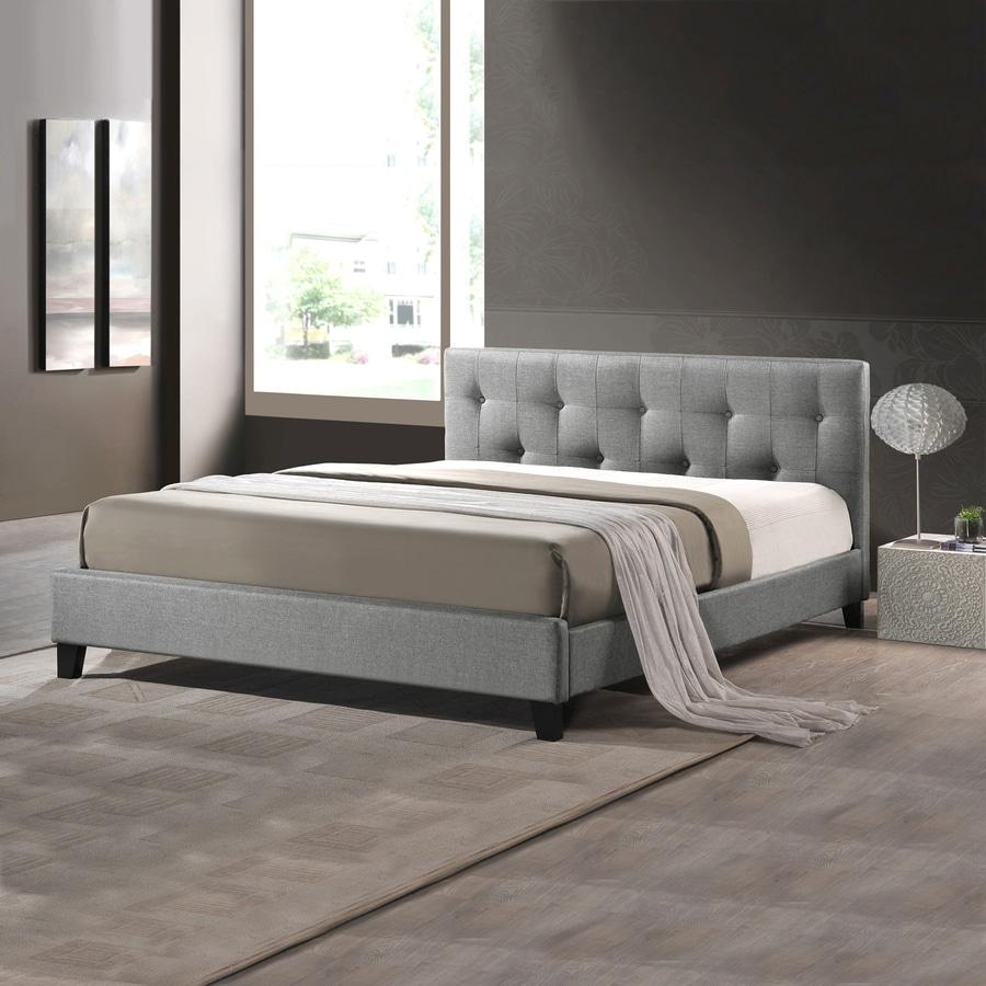 Baxton Studio Annette Grey Full Platform Bed