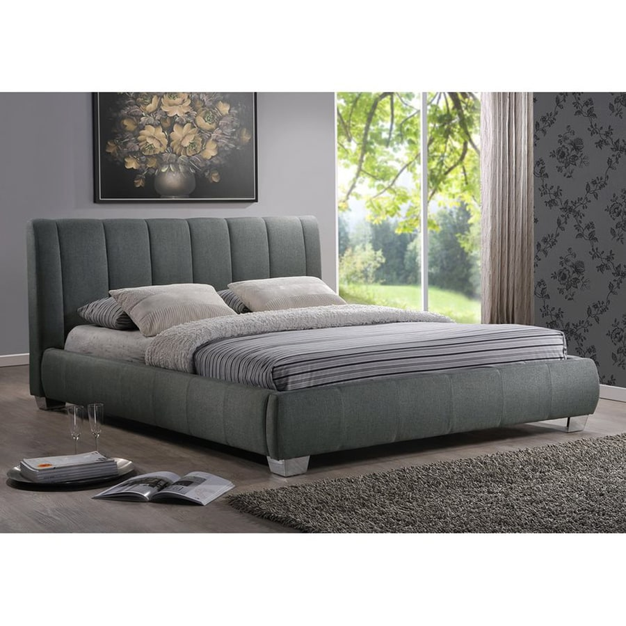 Baxton Studio Marzenia Grey Queen Platform Bed