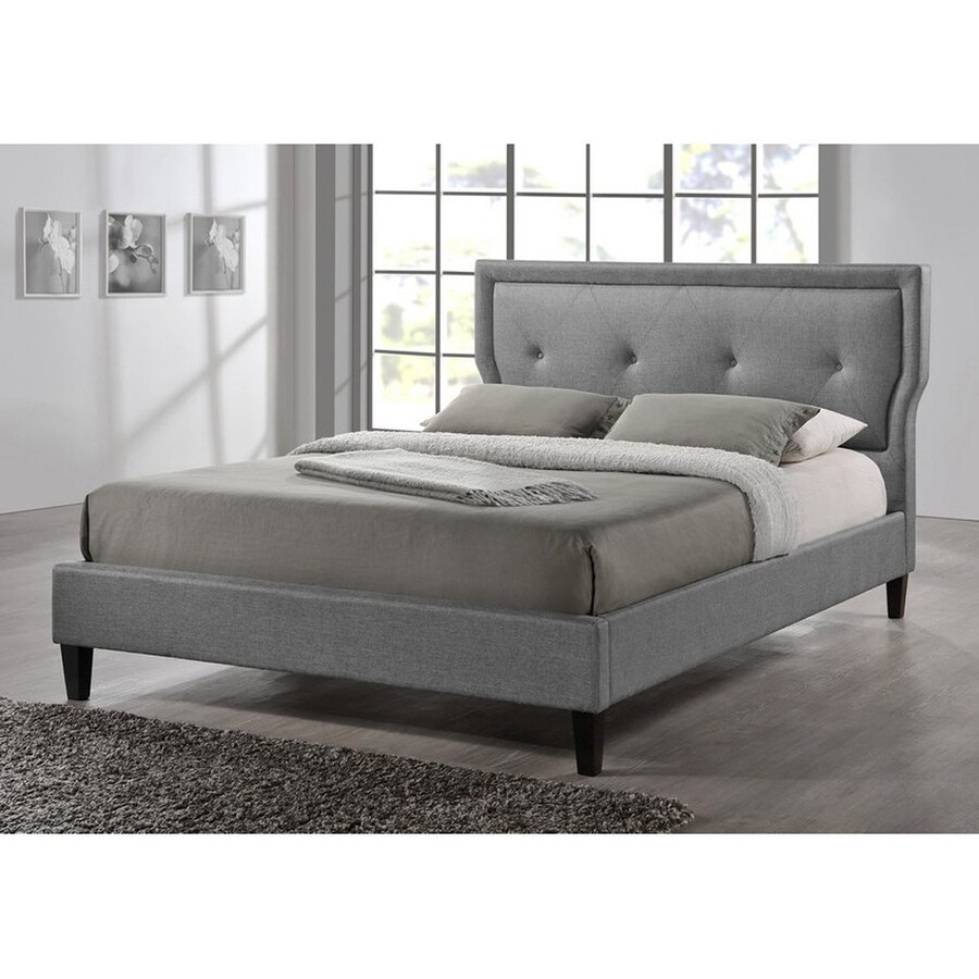 Baxton Studio Marquesa Grey Full Platform Bed