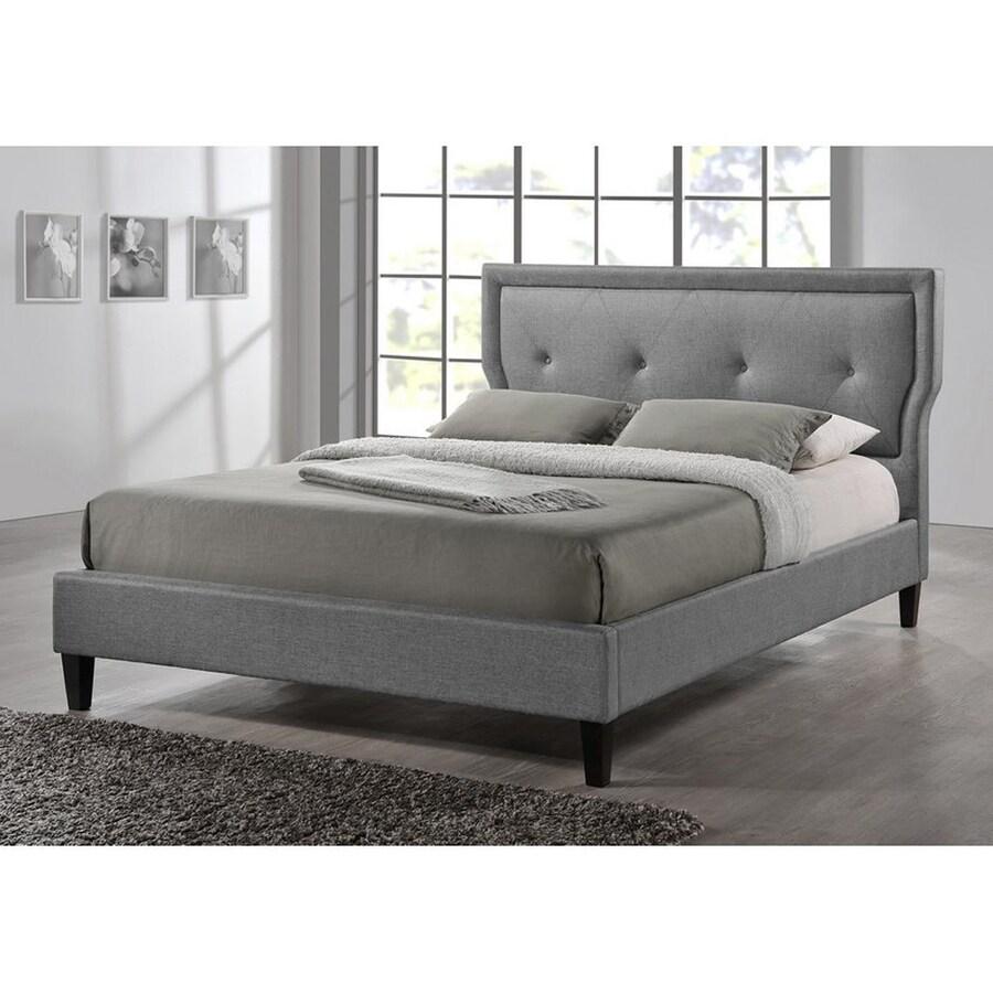 Baxton Studio Marquesa Grey King Platform Bed