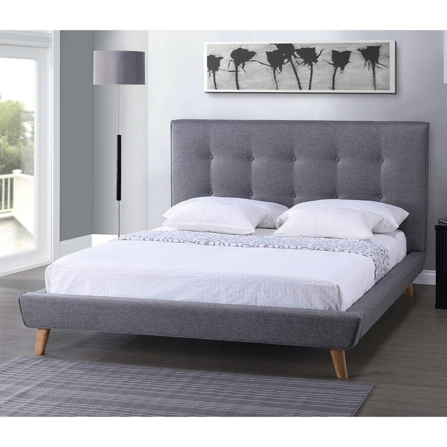 Baxton Studio Jonesy Dark Grey Full Platform Bed