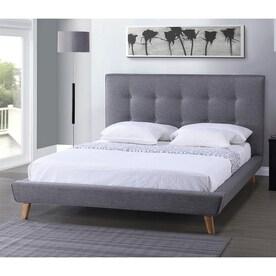 Baxton Studio Jonesy Dark Grey Queen Platform Bed
