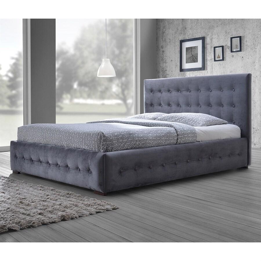 Baxton Studio Margaret Grey Queen Upholstered Bed