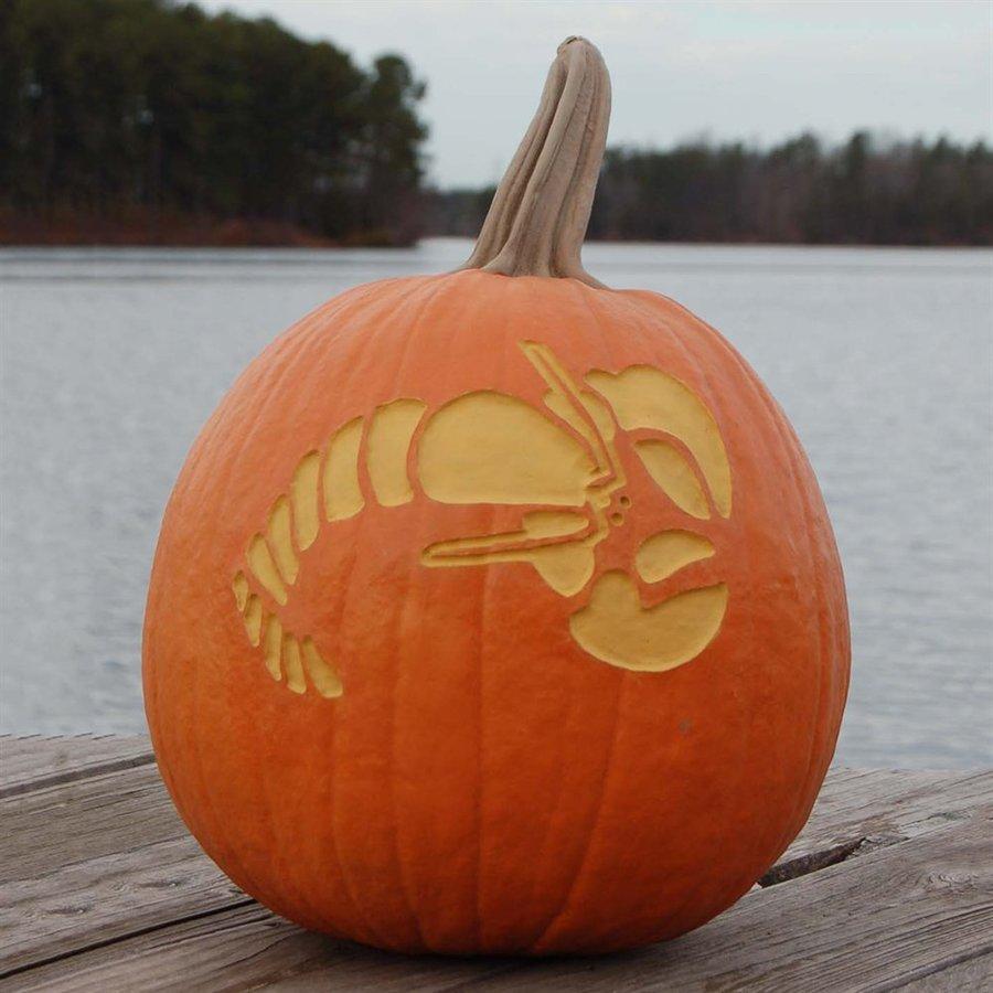 Craft-Tex Pumpkin Patch Lobster Artificial Harvest Pumpkin