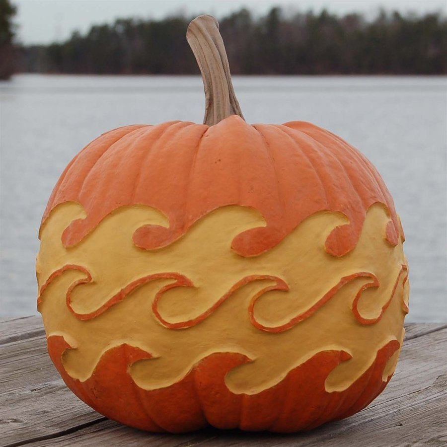 Craft-Tex Pumpkin Patch Waves Artificial Harvest Pumpkin