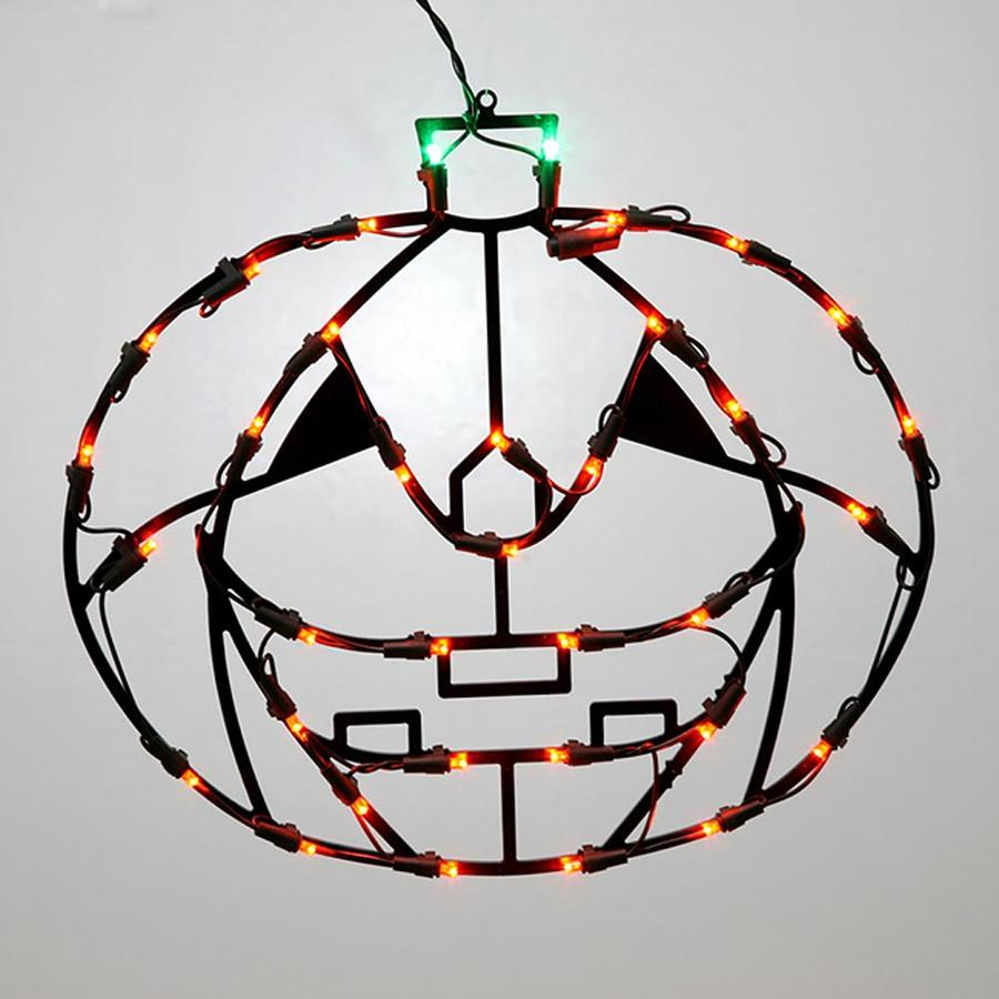 Northlight Pre-Lit Pumpkin Window Cling with Multicolor LED Lights