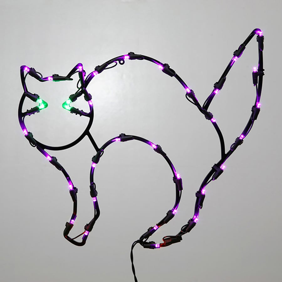 Northlight Pre-Lit Cat Window Cling with Multicolor LED Lights