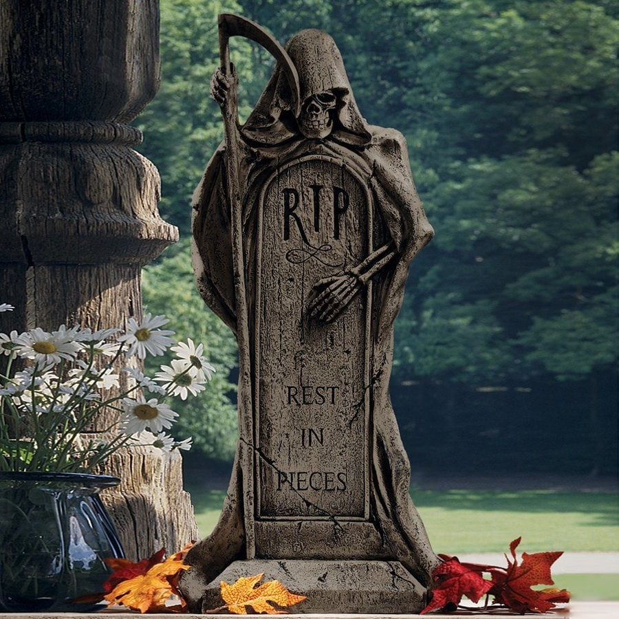 Design Toscano Rest In Piece Grim Reaper Tombstone At