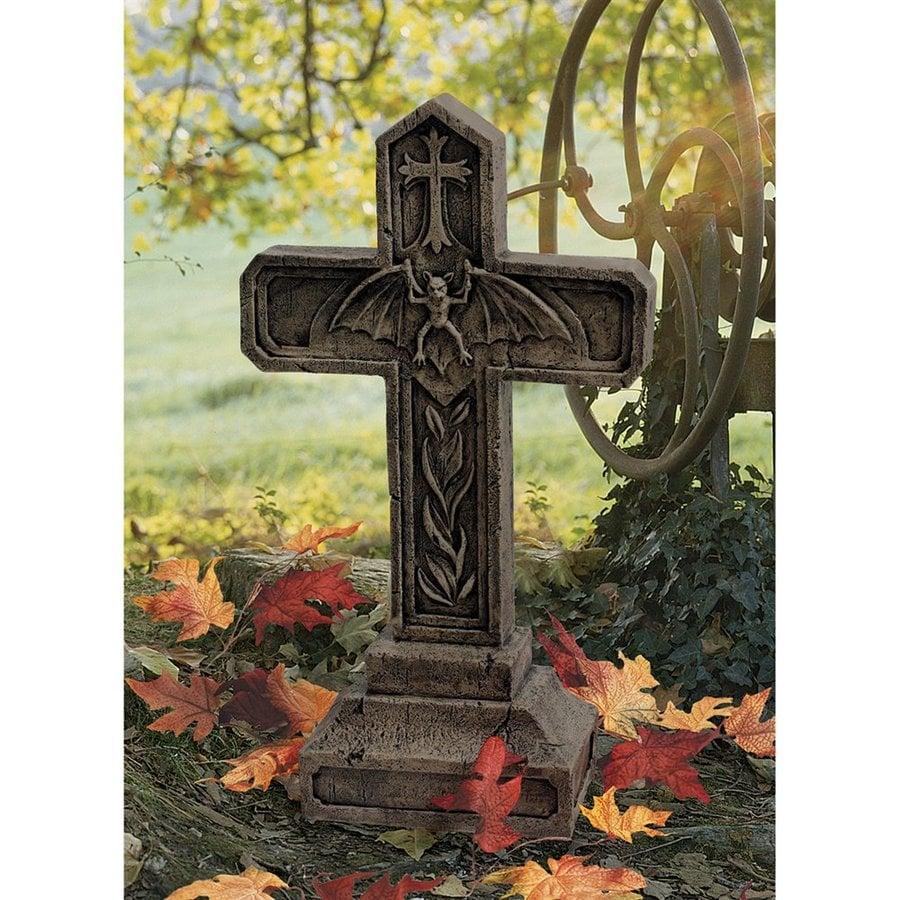 Design Toscano Balkan Vampire Blood Cross Tombstone Statue