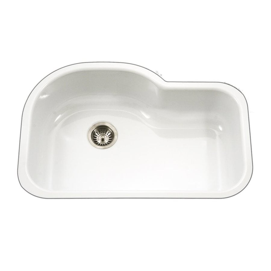 Shop HOUZER Porcela 31.25-in x 20.687-in White Single-Basin ...