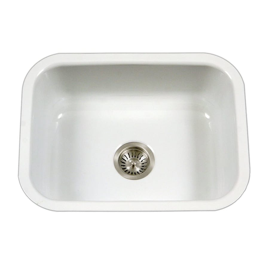 kitchen sink 38 x 22 shop houzer porcela 17 38 in x 22 75 in white single basin 8425