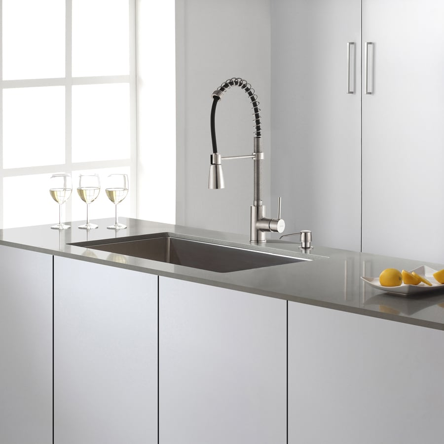 Kraus 18 In X 30 In Stainless Steel Single Basin Undermount
