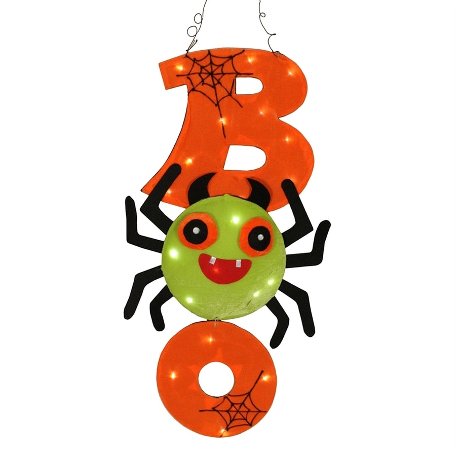 Northlight Pre-Lit Boo Spider Window Cling with Multi-function White LED Lights