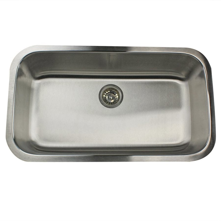 Nantucket Sconset 32.38-in x 17.875-in Brushed Satin Single-Basin Stainless Steel Undermount Residential Kitchen Sink