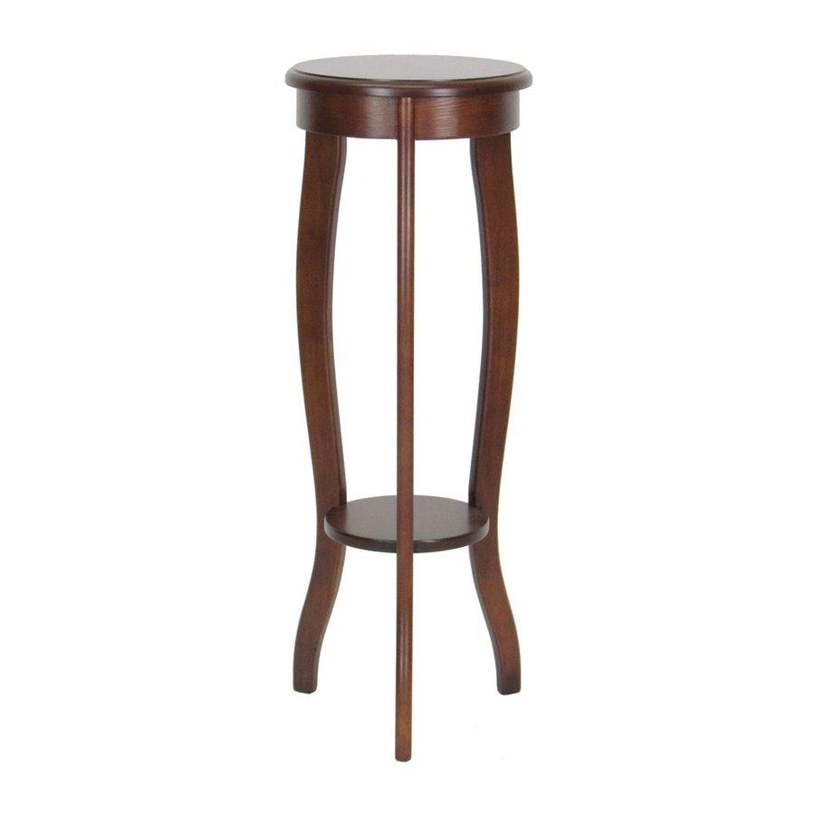 Wayborn Furniture 31.5-in Brown Indoor Round Wood Plant Stand