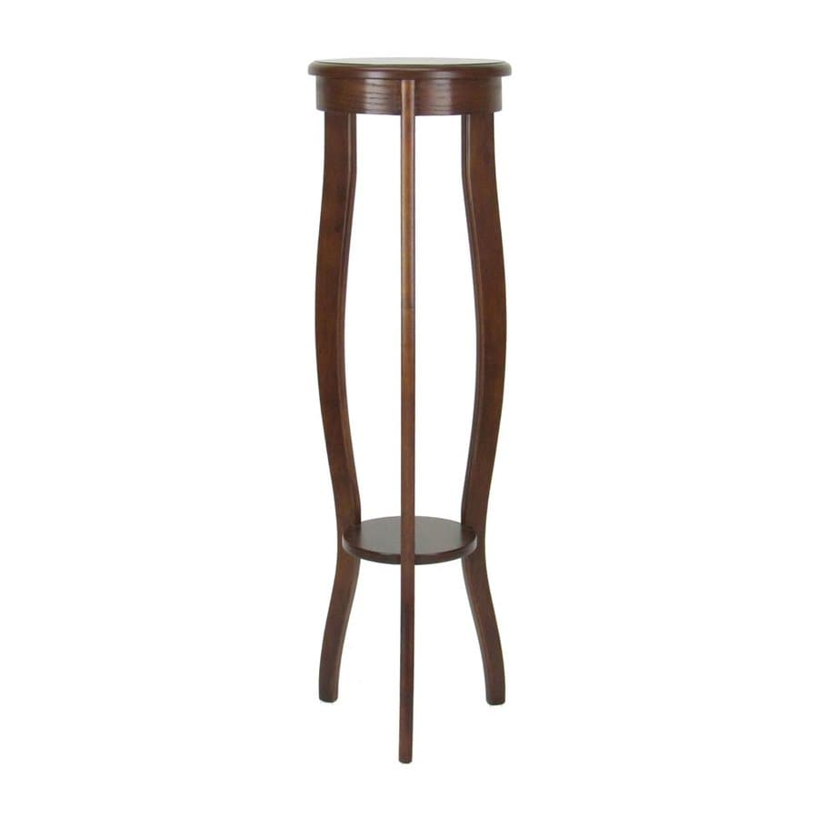 Wayborn Furniture 39.5-in Brown Indoor Round Wood Plant Stand