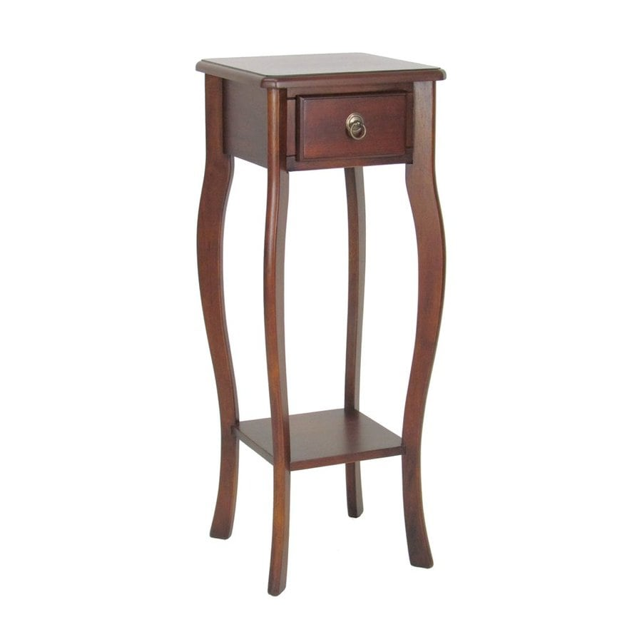 Wayborn Furniture 33.5-in Brown Indoor Square Wood Plant Stand