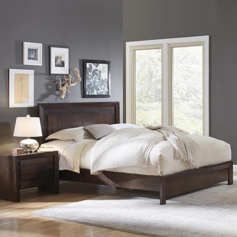 Modus Furniture Element Chocolate Brown Queen Platform Bed