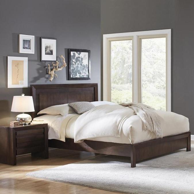 Full Modus Furniture Element Platform Bed Chocolate Brown