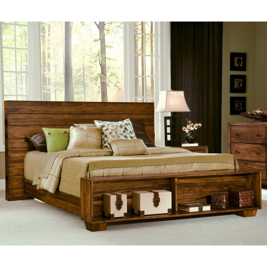 Modus Furniture Chelsea Park Macchiato Queen Platform Bed with Storage