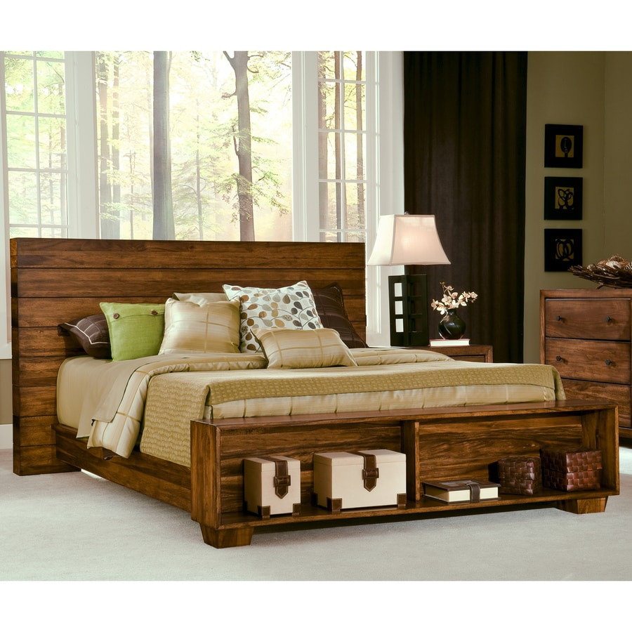 Modus Furniture Chelsea Park Macchiato King Platform Bed with Storage