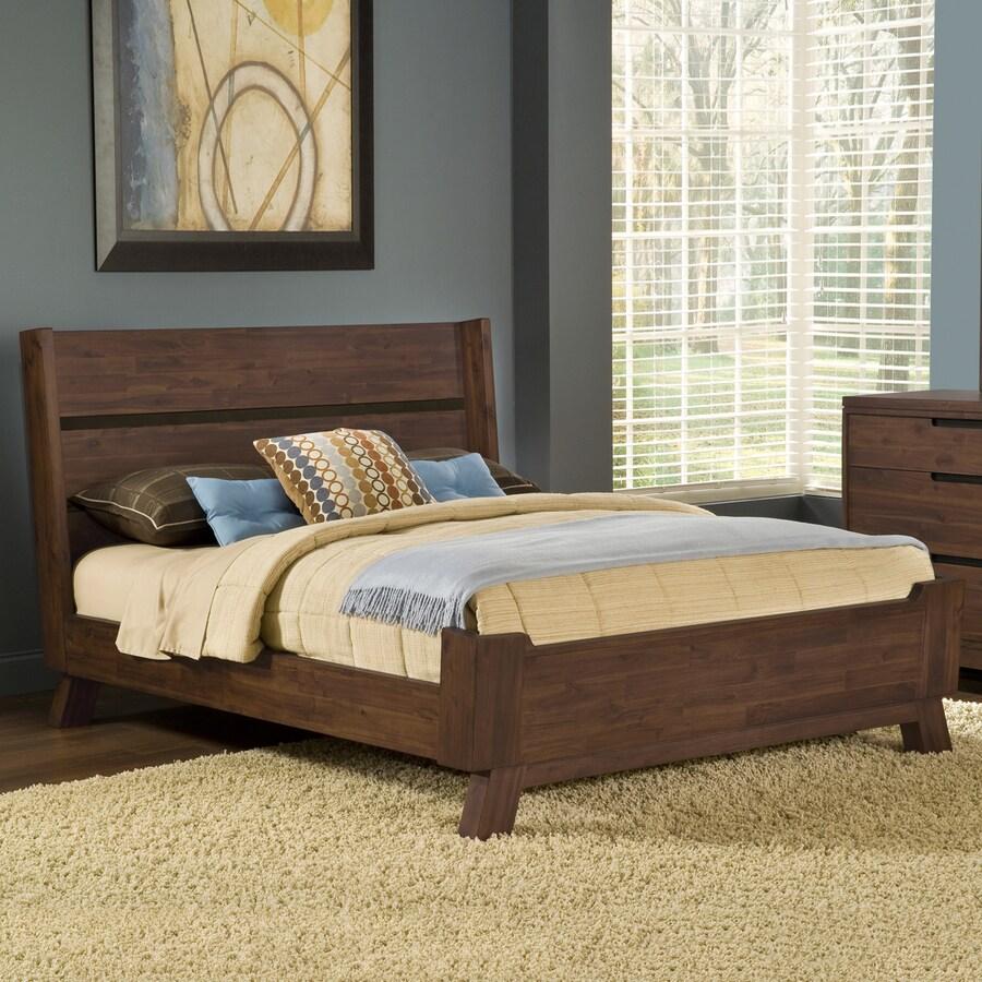 Modus Furniture Portland Medium Walnut Queen Platform Bed