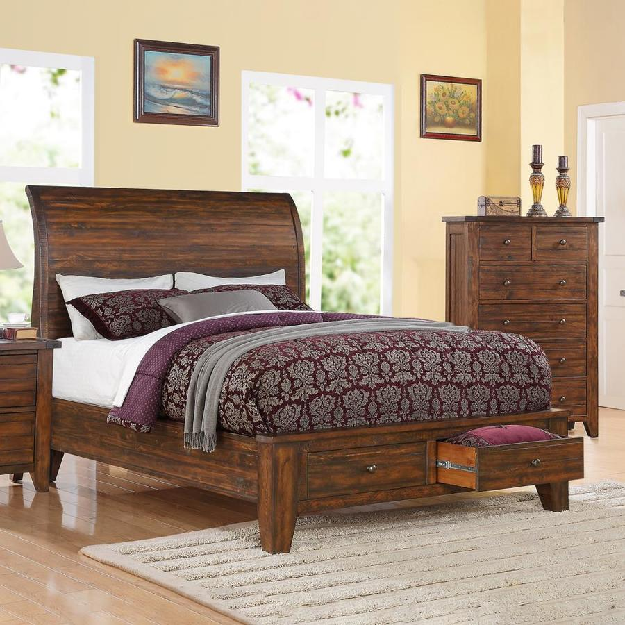 Modus Furniture Cally Antique Mocha King Platform Bed with Storage