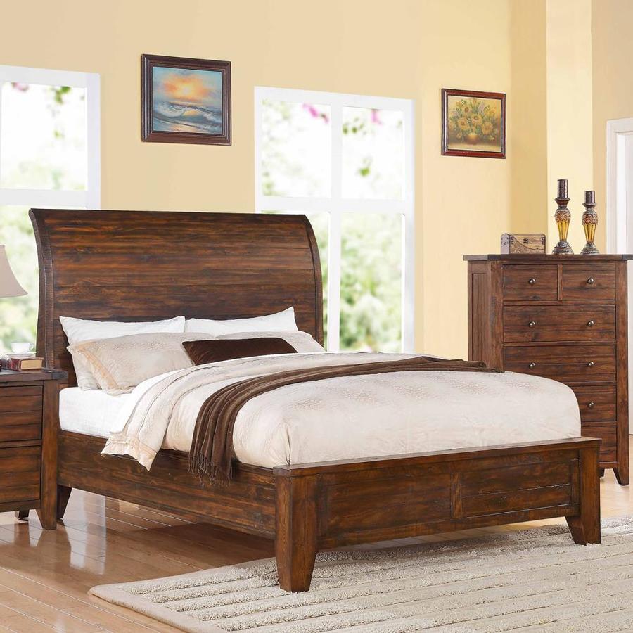 Modus Furniture Cally Antique Mocha Queen Platform Bed