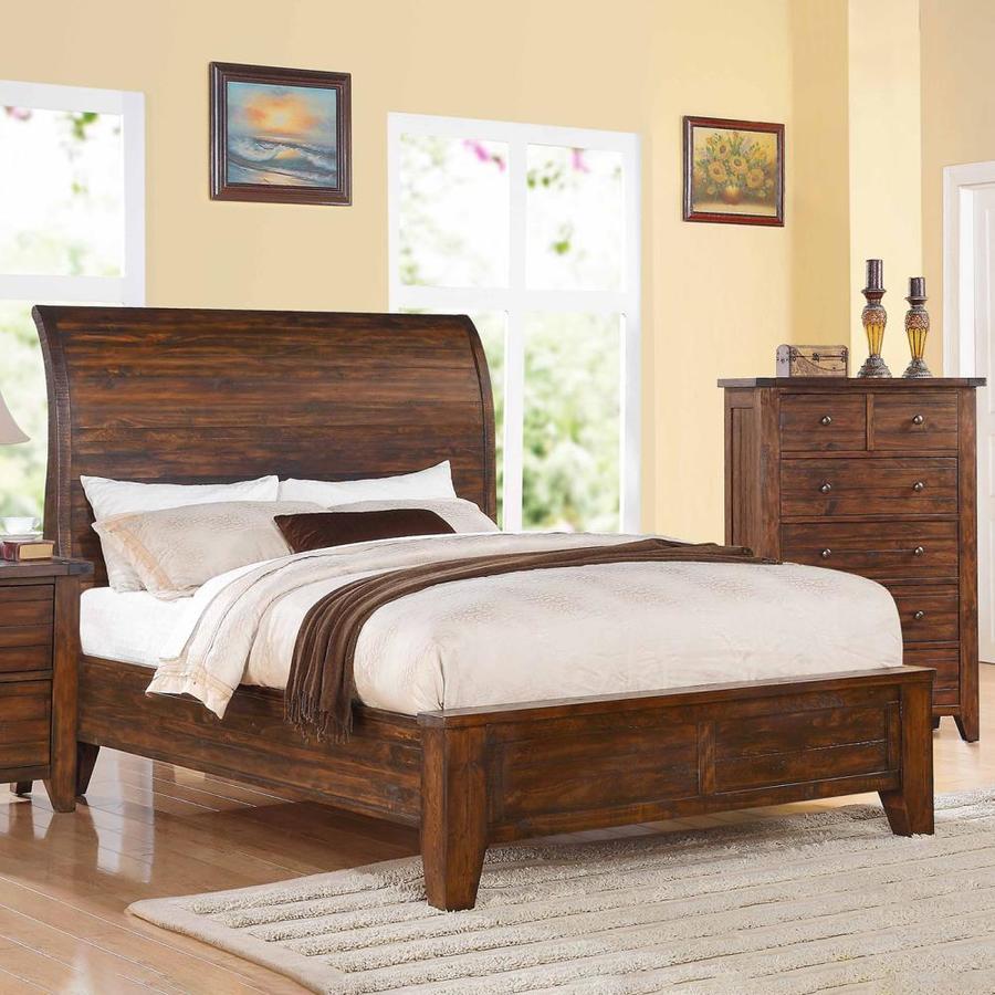Modus Furniture Cally Antique Mocha King Platform Bed