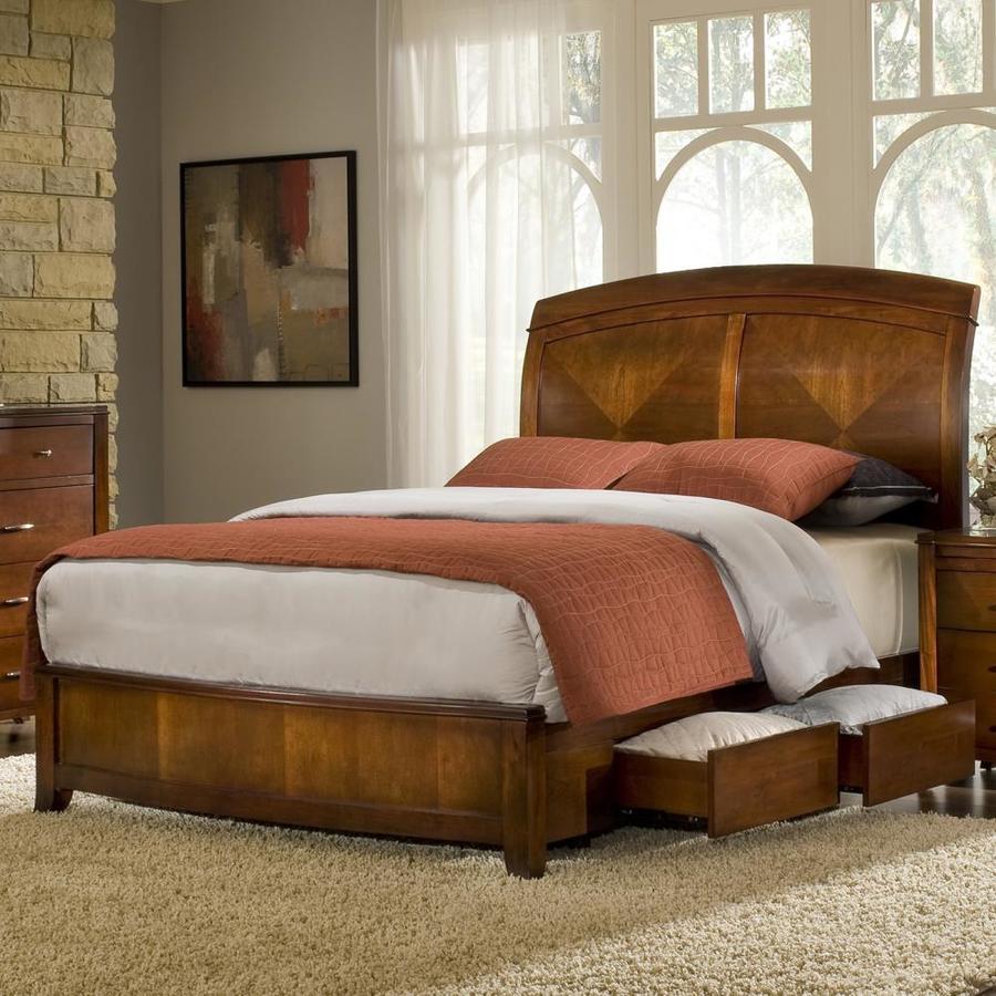 Modus Furniture Brighton Cinnamon Queen Platform Bed with Storage