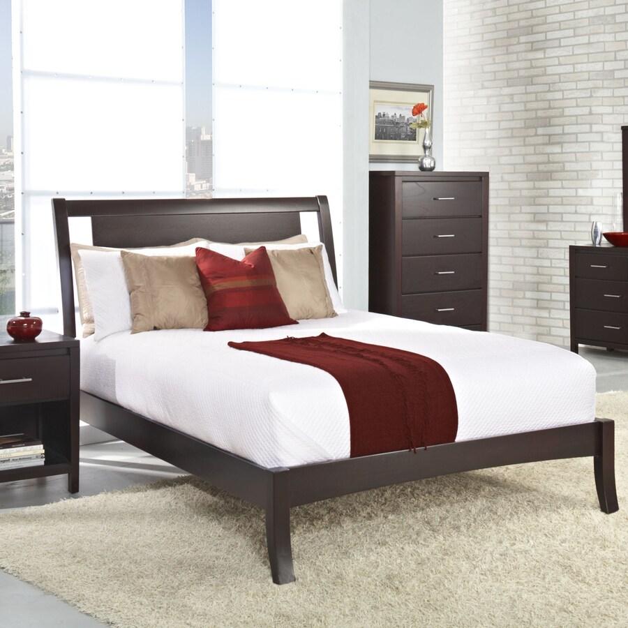 Shop Modus Furniture Nevis Espresso King Bed Frame at Lowes.com