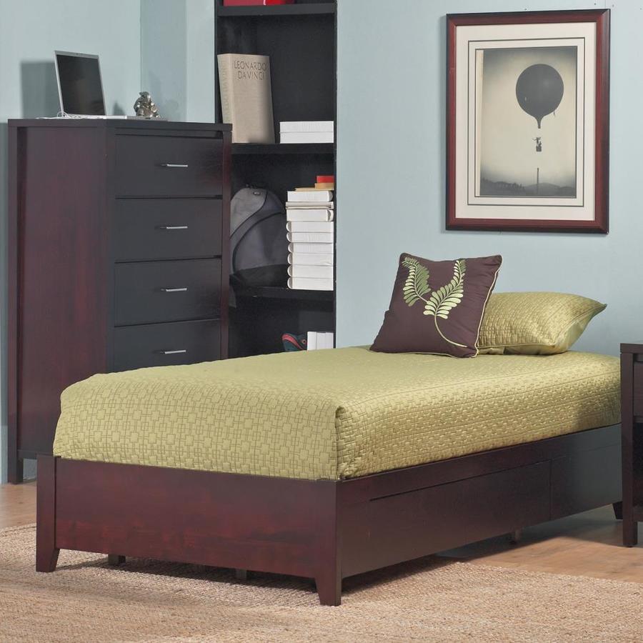 Modus Furniture Nevis Espresso Twin Platform Bed with Storage