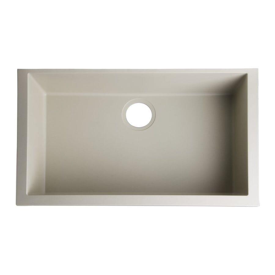 Alfi 30-in x 17.125-in Biscuit Single-Basin Granite Drop-In Residential Kitchen Sink