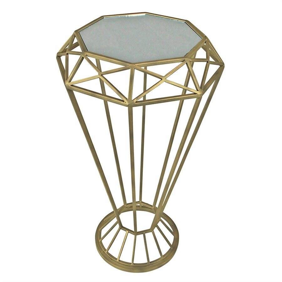 Design Toscano 25-in Indoor/Outdoor Round Glass Plant Stand