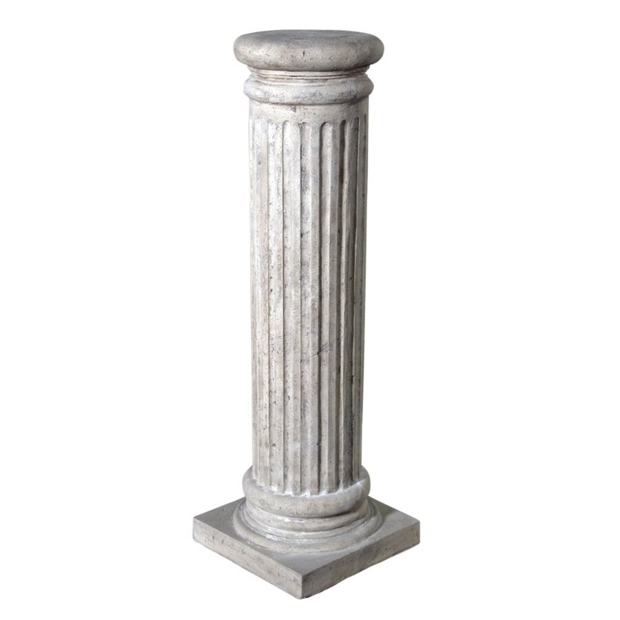 Design Toscano 37-in French Limestone Indoor/Outdoor Round Resin Plant Stand