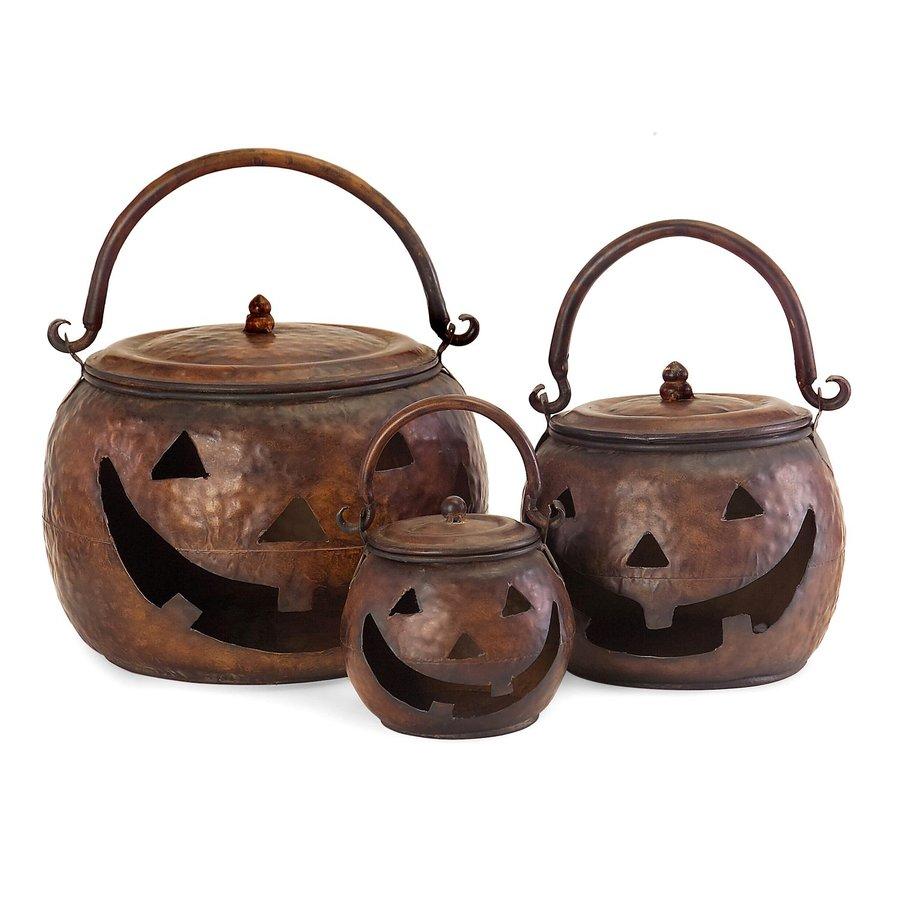 Imax Worldwide Set of 3 Jack-O-Lantern Pumpkins