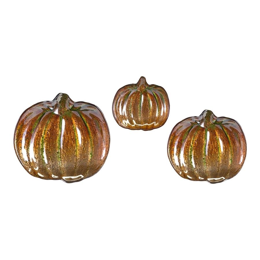 Imax Worldwide Set of 3 Pumpkin Tabletop Decorations