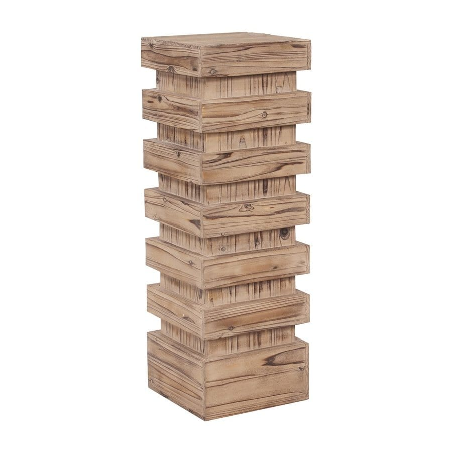 Tyler Dillon 37-in Natural Indoor Square Wood Plant Stand