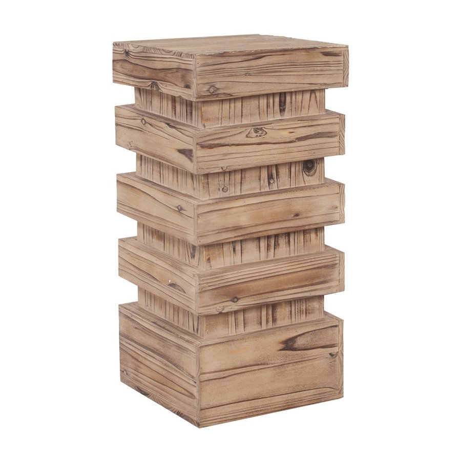 Tyler Dillon 28-in Natural Indoor Square Wood Plant Stand