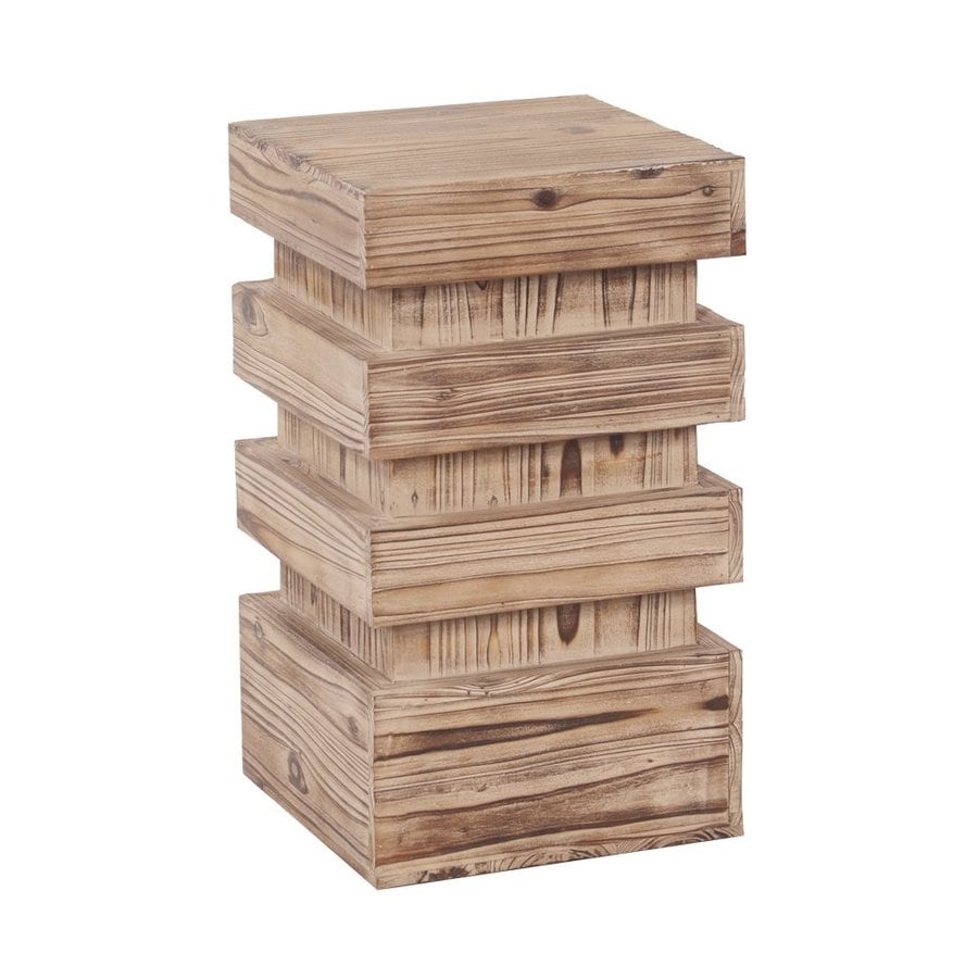 Tyler Dillon 20-in Natural Indoor Square Wood Plant Stand